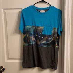 On the Byas space shirt